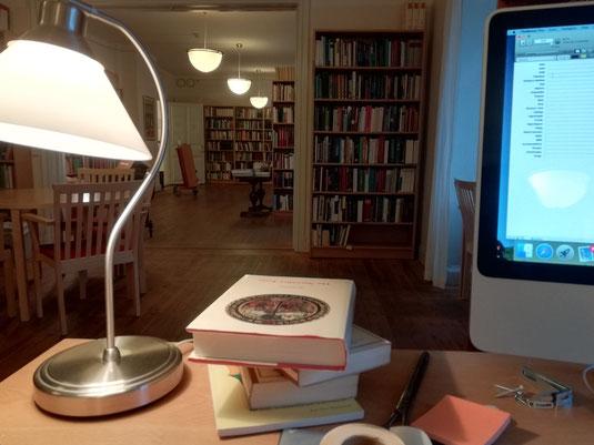 Arbeiten in der Bibliothek