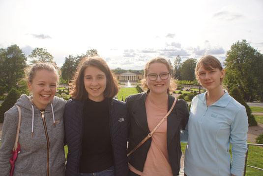 Praktikantinnen in Schweden: Pauline, Madeleine, Friederike, Anna