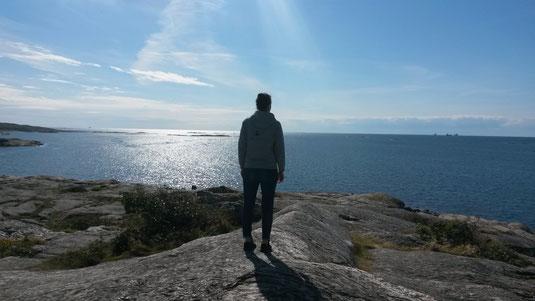 Matea Renic an der schwedischen Westküste