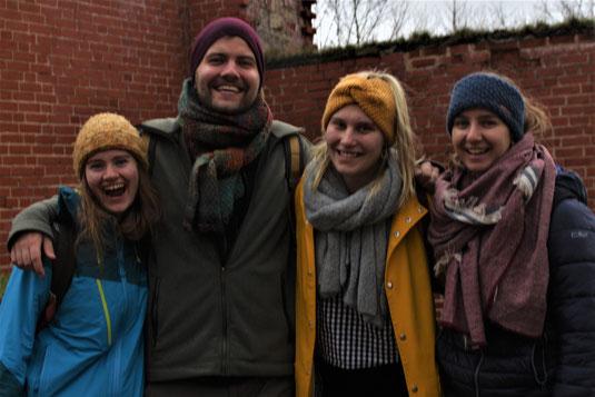 Unsere Baltikanten: Alex, Leo, Emelie und Anna Maria