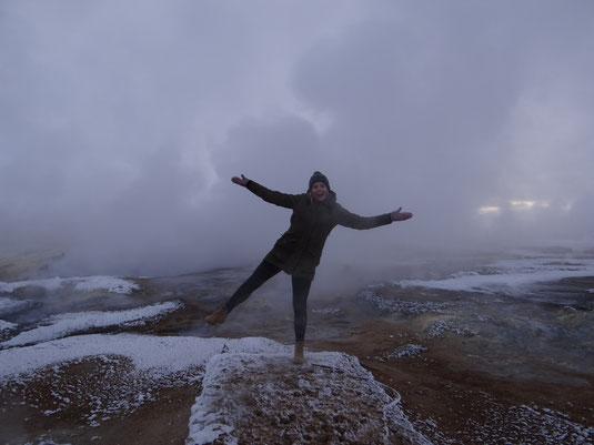 Heiße Quellen von Mývatn