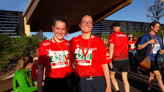 Klara und Hanne beim Blodomloppet