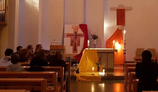 Taizé-Gebet in S:t Lars in Uppsala