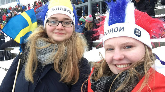 Maria Korten und Tabea Gerd-Witte beim Holmenkollen Skifestival in Oslo