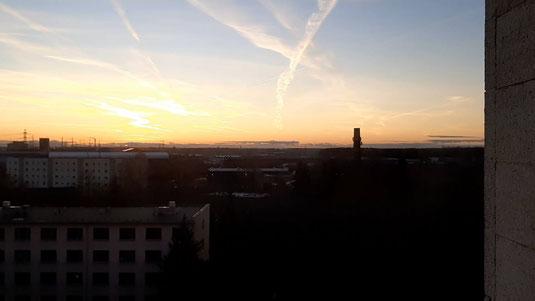Sonne am Horizont