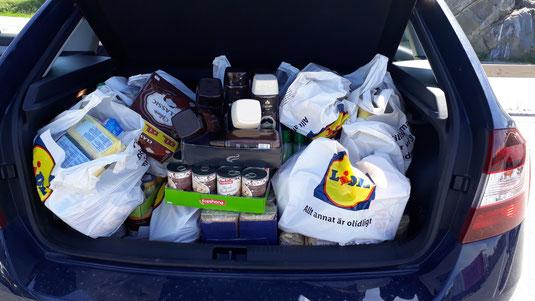 Essenseinkäufe für den Mötesplats in Corona Zeiten