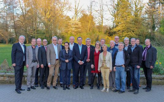 Bundes- und Landespolitiker, Fraktionsvorsitzende und Stadtkämmerer der SPD trafen sich im Eickeler Stadtgarten.