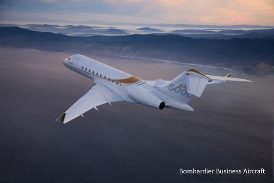 Jet privé Bombardier Global 5000