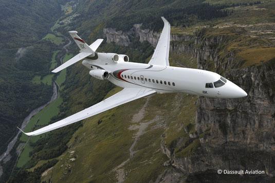 Jet privé Dassault Falcon 8X