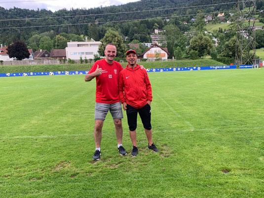 Das neue 1b Trainergespann Günter Steffani (links) und Ridha Bseyes