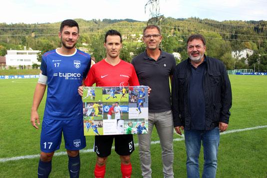 Vor dem Spiel wurde Ex-SVL-Spieler Fabian Fink offiziell verabschiedet