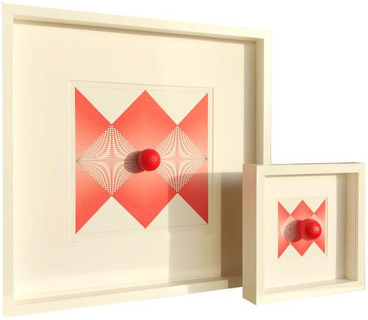 Intersect lines II / 52 x 52 cm und 25 x 25 cm / Druck auf Leinwand