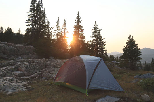 Camping, backcountry camping, USA, National Forest, Bighorn Mountains