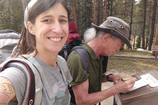Trailhead, register box, backcountry camping, wilderness, USA