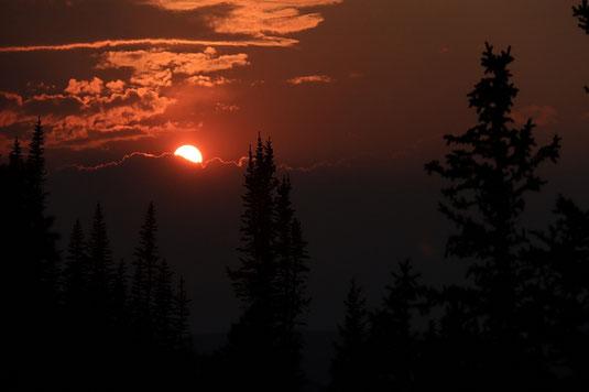 Sunset, mountains, hiking, camping, USA, wilderness