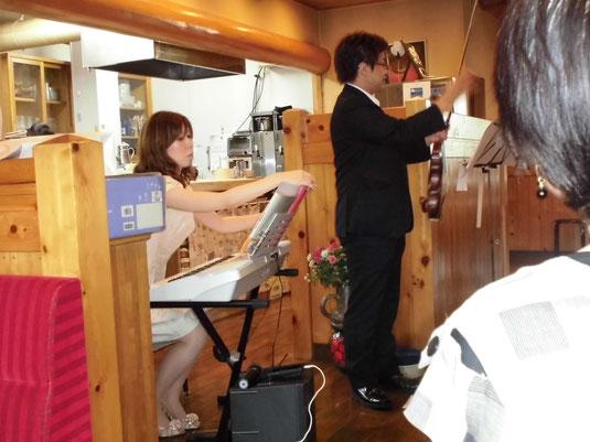 ▲2014年8月8日春日井市医師会地域包括支援センター様が主催する、介護者家族会の演奏会でした