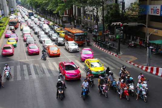 Bangkok is famous for its countless colorfull Taxis