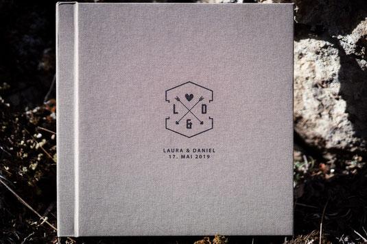 Hochzeitsalbum aus Leinen Schweiz