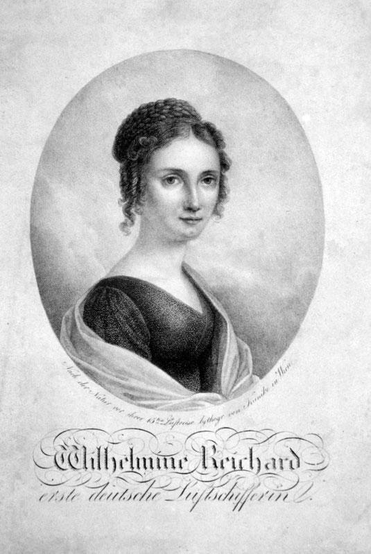 Quelle: Wilhelmine Reichard, Lithografie von Adolf Kunike, etwa 1820