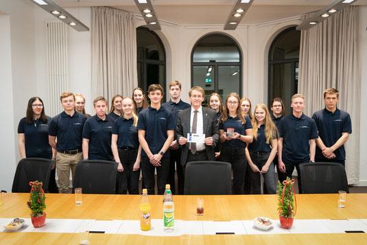 Besuch beim Ministerpräsident, Daniel Günther.