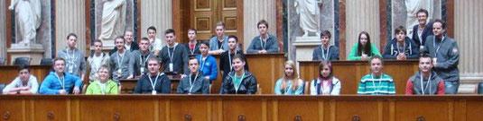 Die Kremser Fachschüler im Parlament. Foto: HTL Krems