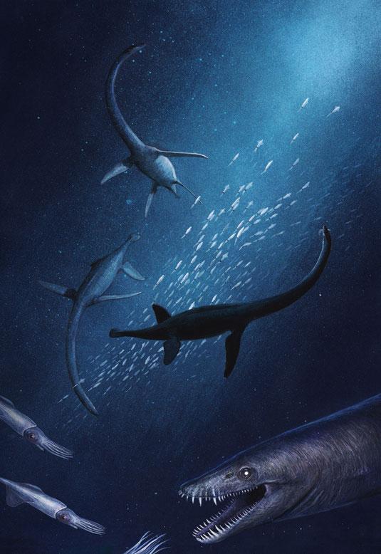 Elasmosaur Lagenanectes life reconstruction