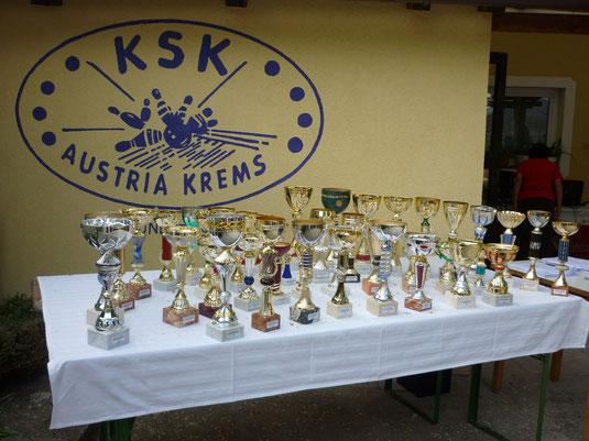 Die Siegespokale der Amateurmeisterschaften