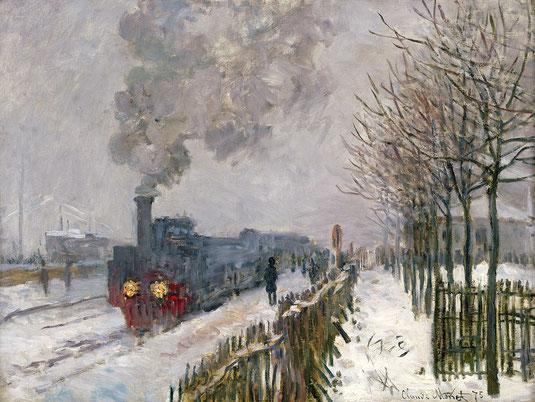 Il treno nella neve, Monet (1877)