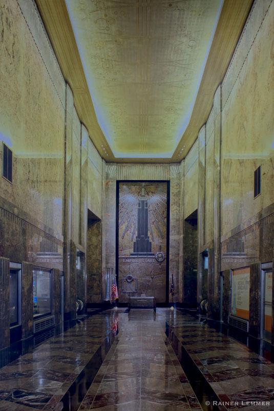 Eingangshalle Empire-StateBuilding in New York ausgestattet mit Lahnmarmor