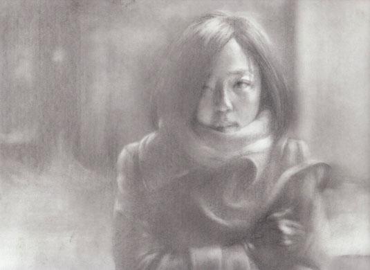 「薄氷の殺人」グイ・ルンメイ A4 鉛筆/紙