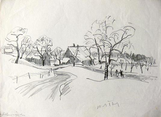 Hans Potthof Zeichnung Allenwinden