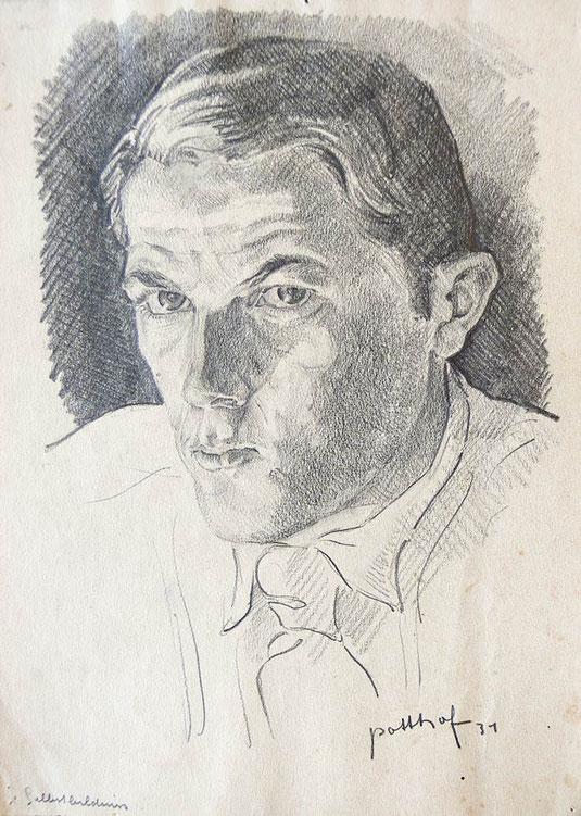Hans Potthof Zeichnung Selbstbildnis 1931