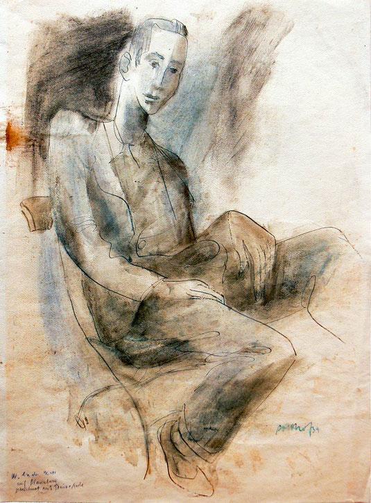 Hans Potthof Zeichnung Portrait von W.Andermatt