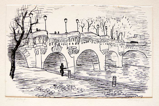 Hans Potthof Zeichnung Pont Neuf