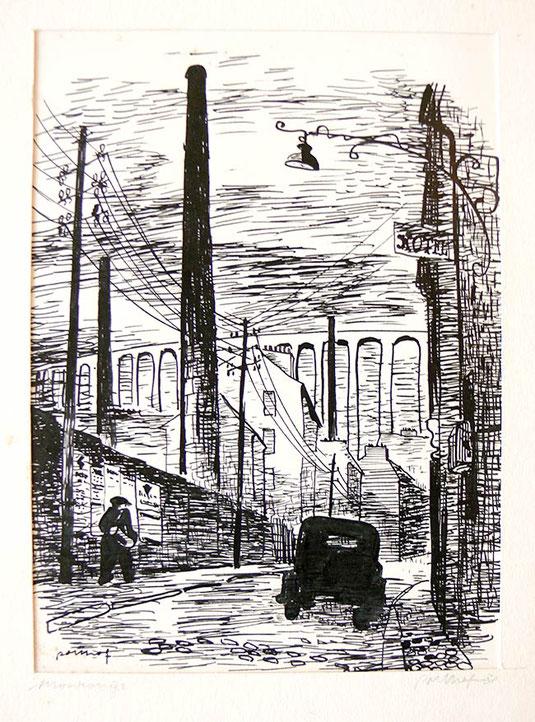 Hans Potthof Zeichnung Monrouge 2