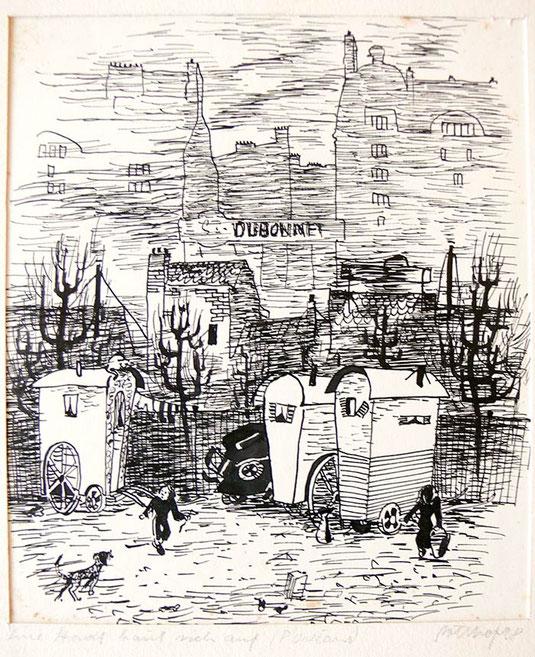 Hans Potthof Zeichnung Dubonnet