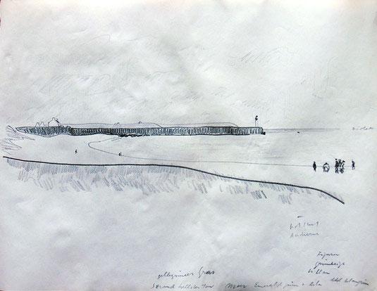 Hans Potthof Zeichnung Bretagne 3