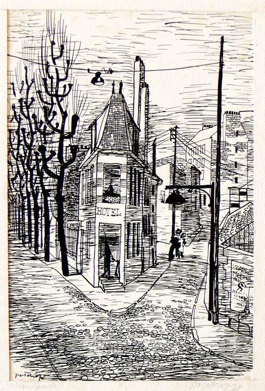 Hans Potthof Zeichnung Monrouge 3