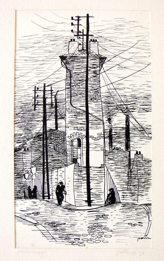 Hans Potthof Zeichnung Monrouge