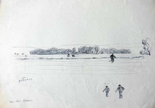 Hans Potthof Zeichnung an der Reus