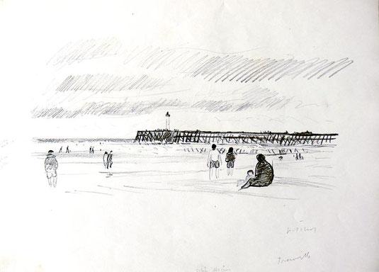 Hans Potthof Zeichnung Trouville
