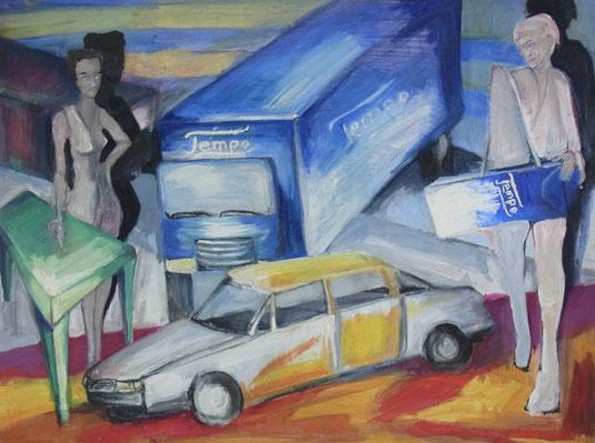 ÖL AUF PAPPE, 120 cm x 80 cm,  1996