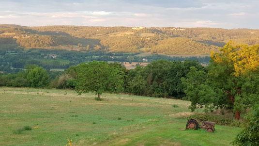 Vista desde el Cuvier de St Martin sobre el valle de la Dordoña