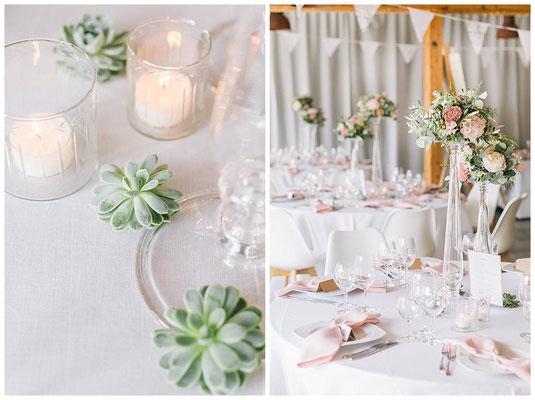 Hochzeitsdeko true love Hochzeiten Farbschema rosa mint sukkulenten Olive Wimpelkette Scheunenhochzeit rustic chic Leinenservietten Tischdekoration