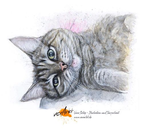 Tierliebe sichtbar machen, Tier malen lassen