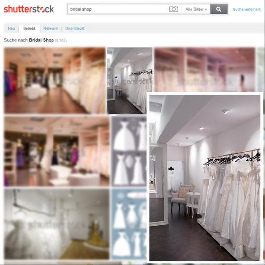 Audrey Brautmode in Shutterstock