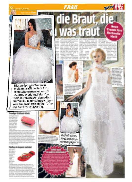 Audrey Brautmode Artikel im Express