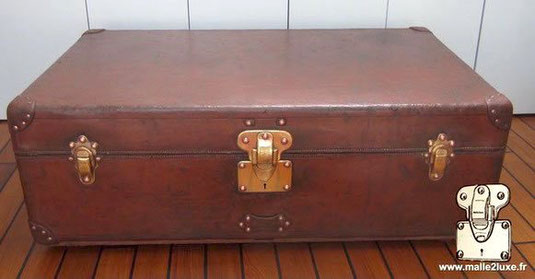 leather cabine trunk steamer louis vuitton