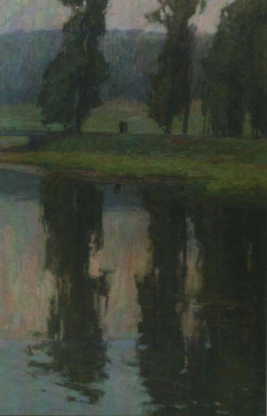 Otto Ubbelohde, O.T. (Abendgang), 1920 (Ausschnitt)