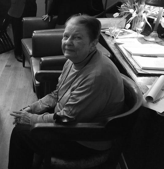 Brigitte Ubbelohde-Doering bei der jüngsten Ausstellungseröffnung im Januar 2019. (Foto: Michael Agricola)